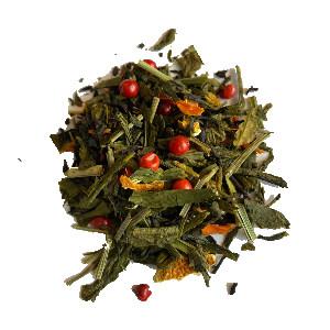 Groene zwarte thee paradijs